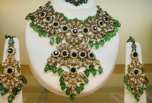 Kundan Jewelry / Glittering accessories are essential to turn up your ethnic style quotient. Kundan jewelry pieces in this assortment include stone studded necklaces, earrings and bracelets, reflecting the rich cultural heritage of India. So, are you ready to turn into the bejeweled Indian princess with this charismatic kundan jewelry pieces.