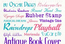 Fonts / by Kimberly Drummond