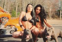 K9 Girls / Gorgeous girls and their handsome pets