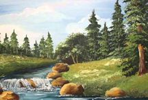 Painting Tutorials / Seascapes and landscapes of acrylic paintings