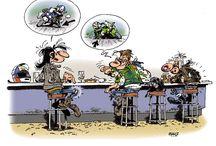 moto karikatür