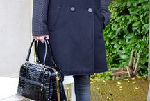 Out Of Office Chic / ottod'ame Coat £285, Culture Jeans £95, Black Real Leather Bag £100