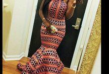 Kente elegant dress