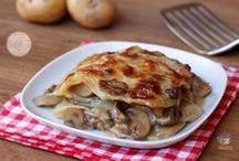 Parmigiana di funghi e patate