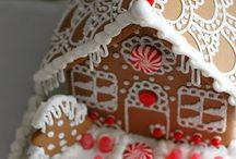 Gingerbread house  / Gingerbread houses and frosting inspiration.