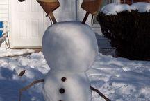 lustige Ideen im Schnee