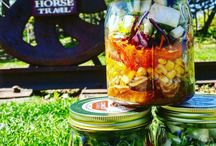 Meal in a Jar   The Jars / Showcasing our entire product line whether its in the kitchen or out and about on the road.