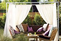 Outdoor Rooms and Garden Nooks / lovely ways to sit and enjoy the outdoors especially amidst the  flowers and trees  Ax