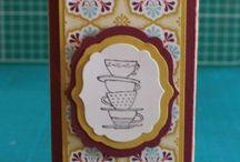 stampin boîte à thé