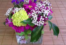 Decoración con flores. DIY. Taller de decoración / Decora con flores frescas y naturales. Ejemplos y productos para decorar tu hogar.