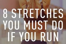 Runners stretches