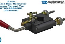 """Alroc Semi- Conductive Screen Removers (Bonded & Peelable) / Alroc semi-conductive screen stripping tools are used by high voltage cable jointers to strip bonded and peelable (""""easy strip"""") semi-conductive screens from 6.6kV, 11kV and 33kV high voltage power cables - 25mm, 30mm and 40mm bonded semi conductive screen strip lengths can be achieved."""