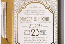 art deco wedding invitations