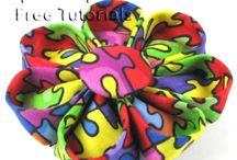 Fabric and Ribbon Flower Tutorials