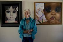 Margaret Keane (the amazing women) / A talent exploited by her husband. Influenced a huge number of artists with her now famous big eyed children. I Love her work!!!