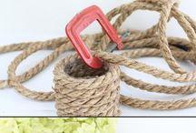 arte em corda  e barbante