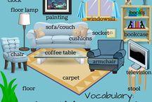 English: Voca H. living room