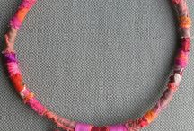 necklaces- textile