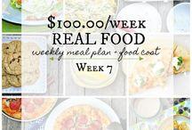 $100.00/Week Real Food Grocery Budget + Meal Plan