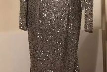 silver sequin gowns