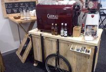 Mobiele espressobar / Mobiele espressobar voor koffie op elke locatie.