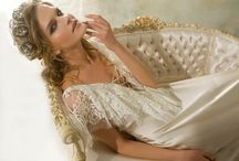 Lina Liri's Unique Silk Creation With Beige French Lace Sophie Hallete.Worn As Wedding Or Dress . / Lina Liri's Unique Silk Creation With French Lace Sophie Hallete.Can Be Worn As Wedding Or Formal Dress .