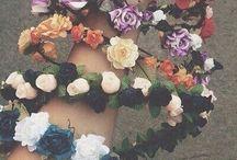 Corona flores hadas