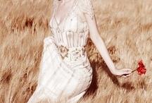 Field of wheat photoshooting