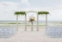 Weddings in Panama City Beach / Emerald Beach Properties has lots of beautiful places for you and your wedding party to stay!