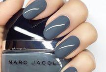 Nails - Grey/Blue colors