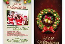 Weihnachtskarten / Hast du dir schon immer persönliche, einfache und professionelle Weihnachtskarten gewünscht? Dieses Jahr geht dein Wunsch in Erfüllung!