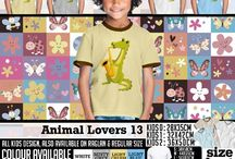 Kaos Anak Lucu | Kaos Anak bertemakan karakter Binatang Lucu  | cute animal T-shirt For Kids