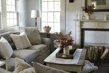 Farmhouse Living Room by Elle