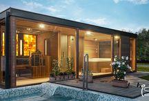 Multi-generation outdoor wellness sauna house