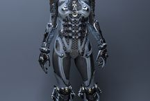 Science fiction inspiration / Photo inspiration for science fiction LARP costumes.