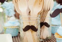 mustache & bow tie baby shower