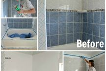 How to paint bathroom tille