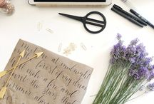 CALLIGRAPHY PROJECT IDEAS / Enjoy a few fun and easy calligraphy project ideas so you can get into the habit of practicing, lettering and using your new skill! DIYs, inspirations, how-to and more
