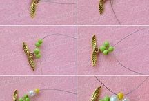 λουλούδι κολιέ χαντρα