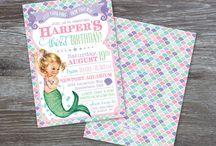 Vintage Mermaid Party Theme