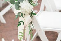 Inspiration: Chair decoration / The right decoration can transform the simplest chair into a beautiful part of your wedding day set up. Wedding chairs can be dressed up according to your own style & wedding theme. www.weddingincrete.com