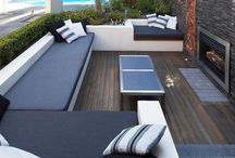 Ideal house; outdoor spaces