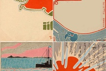 japanese postcards, posters