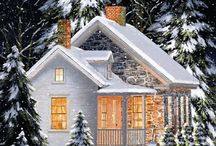 (GIF) A snowy home in the woods