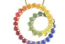 Rainbow Sapphire / This lush jewelry line celebrates color with its spectacular variety of rings, pendants, earrings, bracelets, and necklaces. The joy of colour is yours to keep with any Rainbow Sapphire piece!