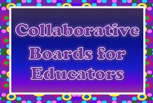 Collaborative Boards for Educators / Click on the image of a board below to link to a collaborative board where multiple people are permitted to pin.  When you find one that's a good fit, follow that board's directions to join.  If you'd like to post your collaborative board here, just send a request to Lessons4Now@gmail.com. Happy pinning!