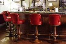 Bar Stools / A variety of bespoke bar stools made by George Smith