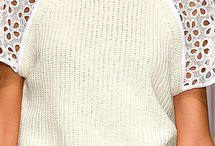 Knit and fabric mixed