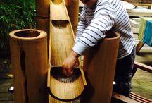 Waterbaan / Waterbaan van bamboe in alle maten te bestellen