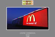 Ecran geant LED Rosny2 / 125m2 d'ecran geant LED